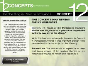 12-Concepts: Warranty 3
