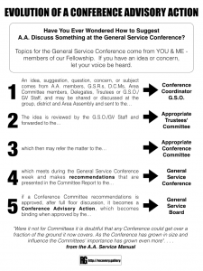Evolution of a Conference Advisory Action