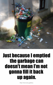 Empty Garbage Can