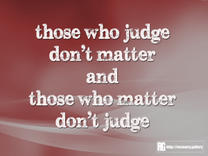 Those Who Judge